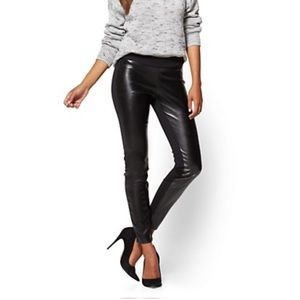 🎉2XHP!🎉Soho Faux Leather Front Black Leggings